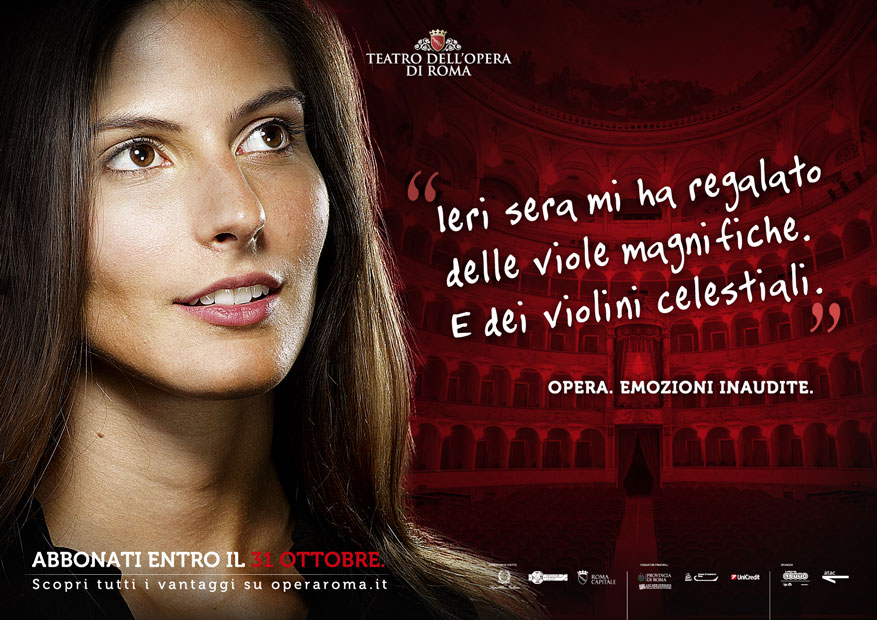 Teatro dell'Opera di Roma Campagna Abbonamenti - Ragazza - Hero Comunicazione