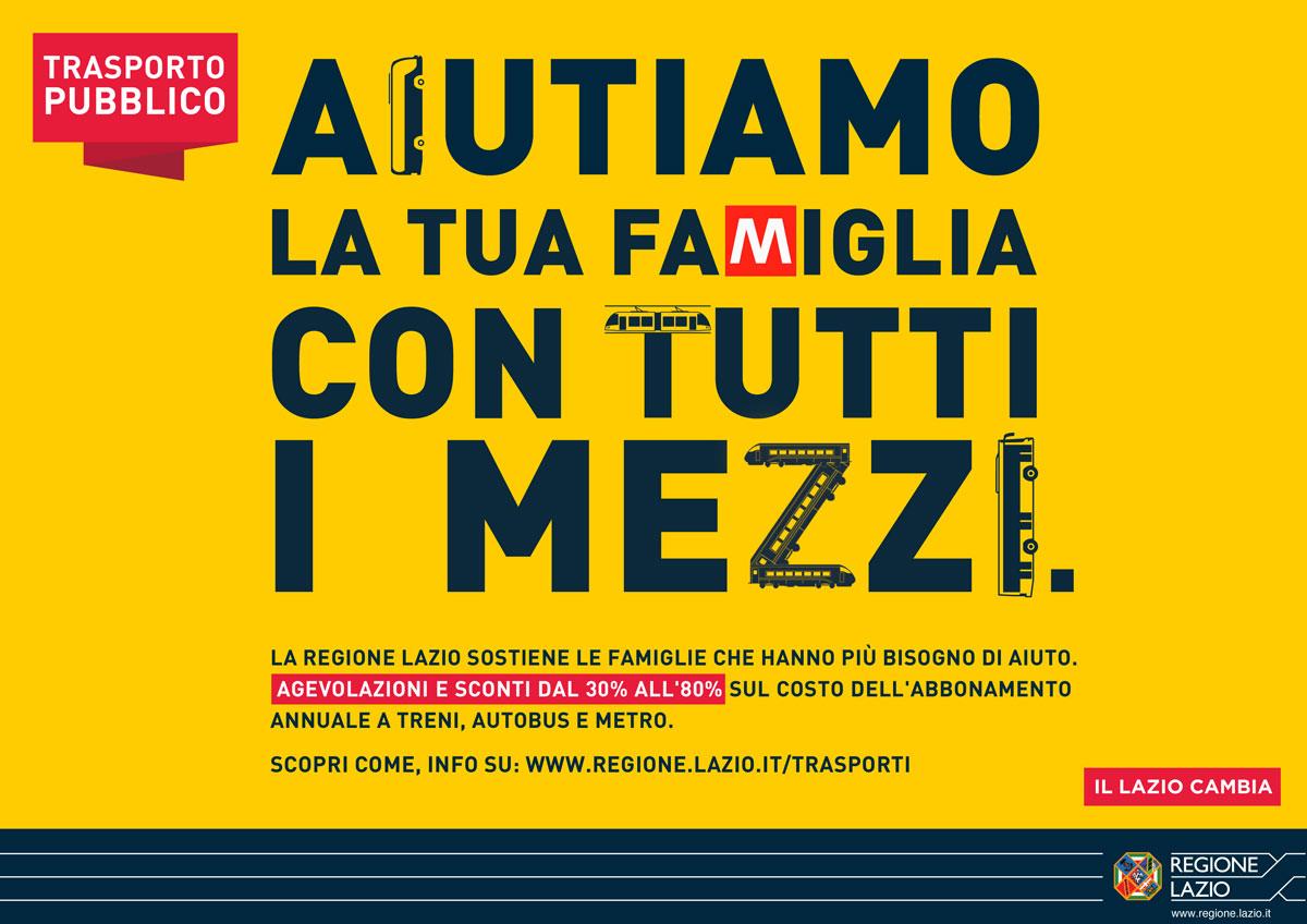 Regione Lazio Campagna Agevolazione mobilità Hero Comunicazione affissione