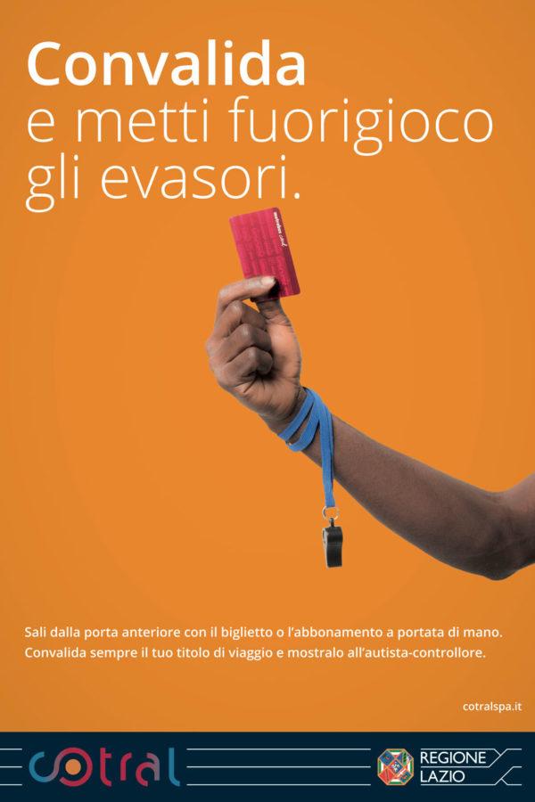 COTRAL Campagna Pubblicitaria contro gli evasori Soggetto Arbitro