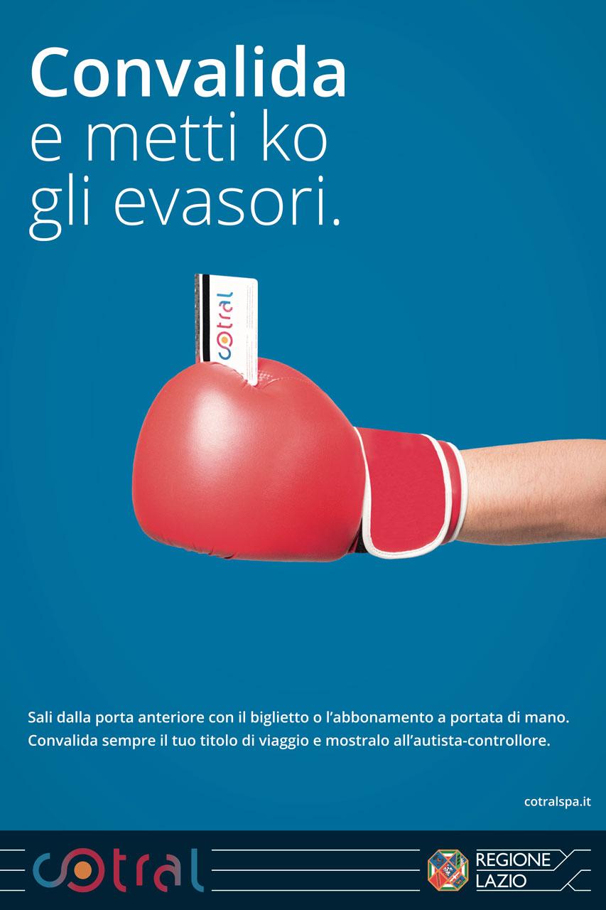 COTRAL Campagna Pubblicitaria contro gli evasori Soggetto Pugile