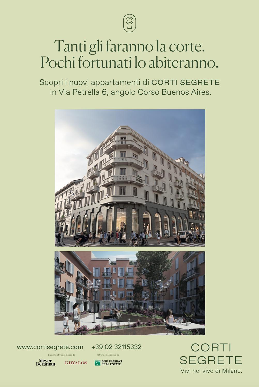 Campagna Affissione Verticale Corti Segrete Milano