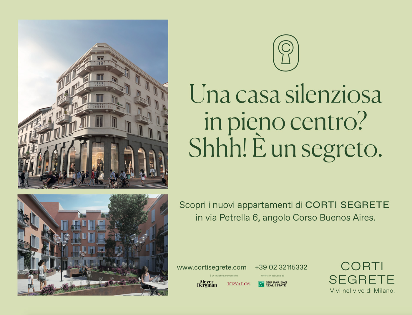 Campagna Affissione 4x3 Corti Segrete Milano