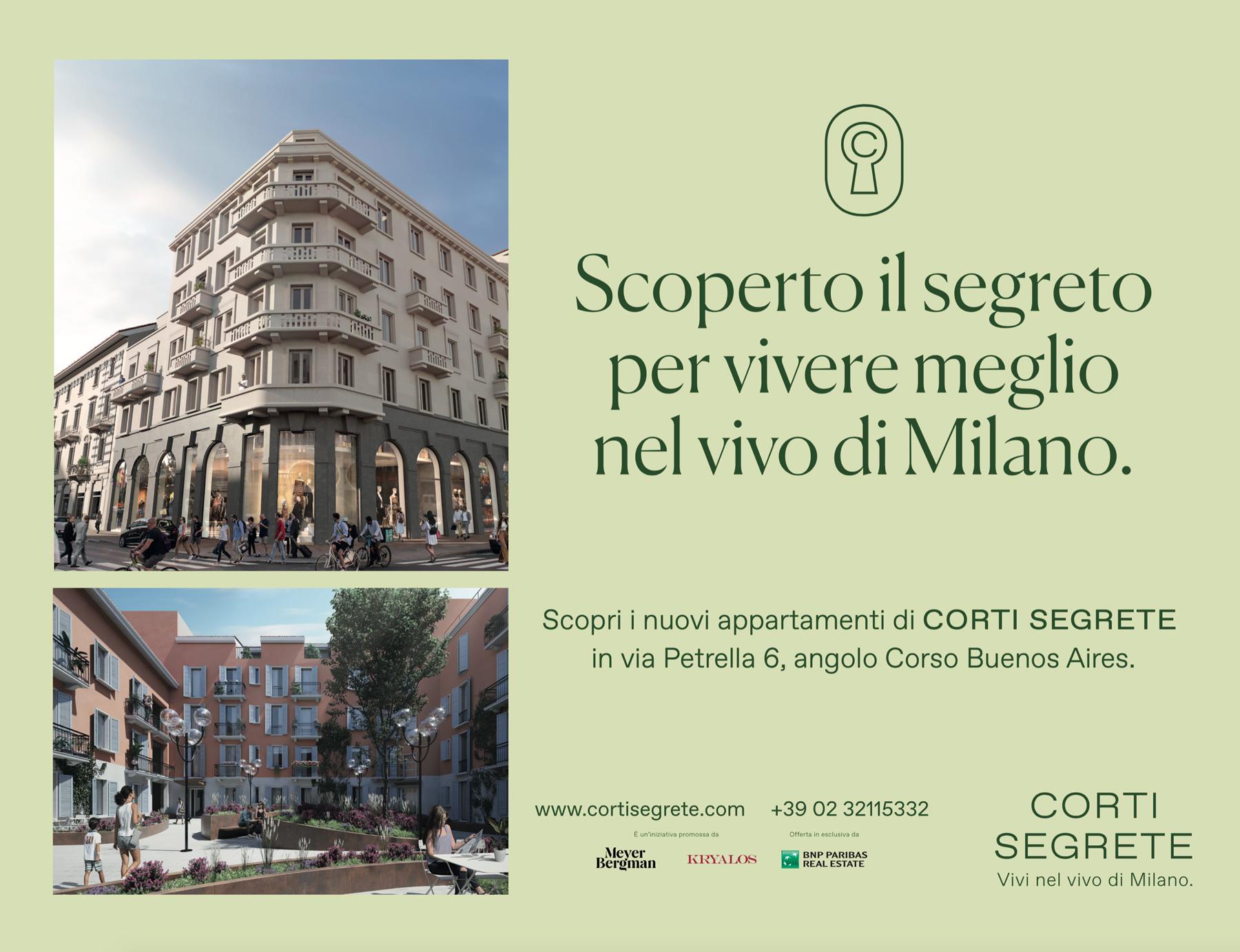 Campagna Pubblicitaria CortiSegrete Milano