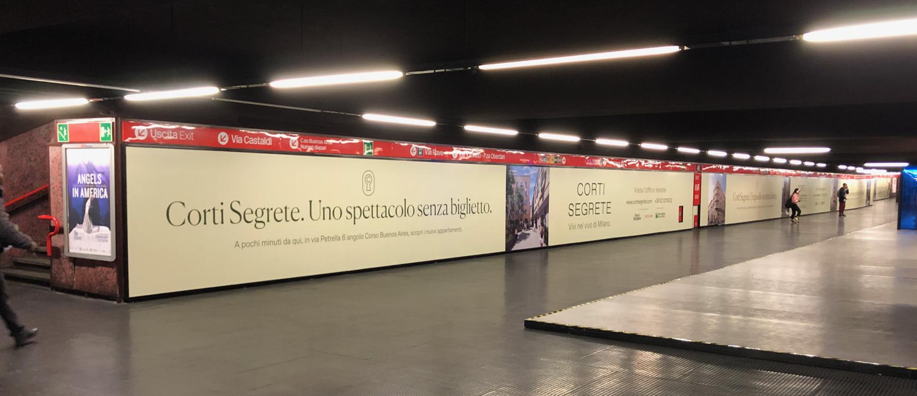 Campagna Pubblicitaria Metropolitana Milano Corti Segrete